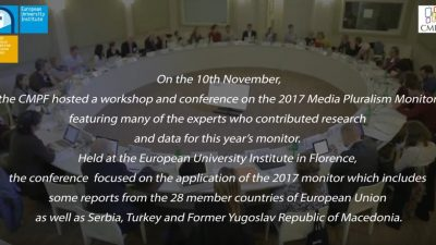 Assessing Risks for Media Pluralism in Europe and Beyond: 2017 Media Pluralism Monitor
