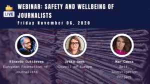Webinar: Safety and Wellbeing of Journalists in Times of Covid-19