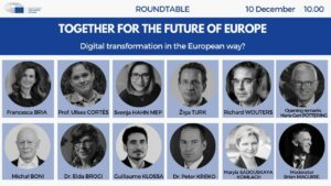 """Public roundtable """"Together for the future of Europe – Digital transformation in the European way?"""" @ Online"""