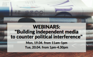 Countering political interference in the media | webinar with EFJ @ Online
